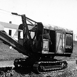 historical construction photograph from F.L. Showalter