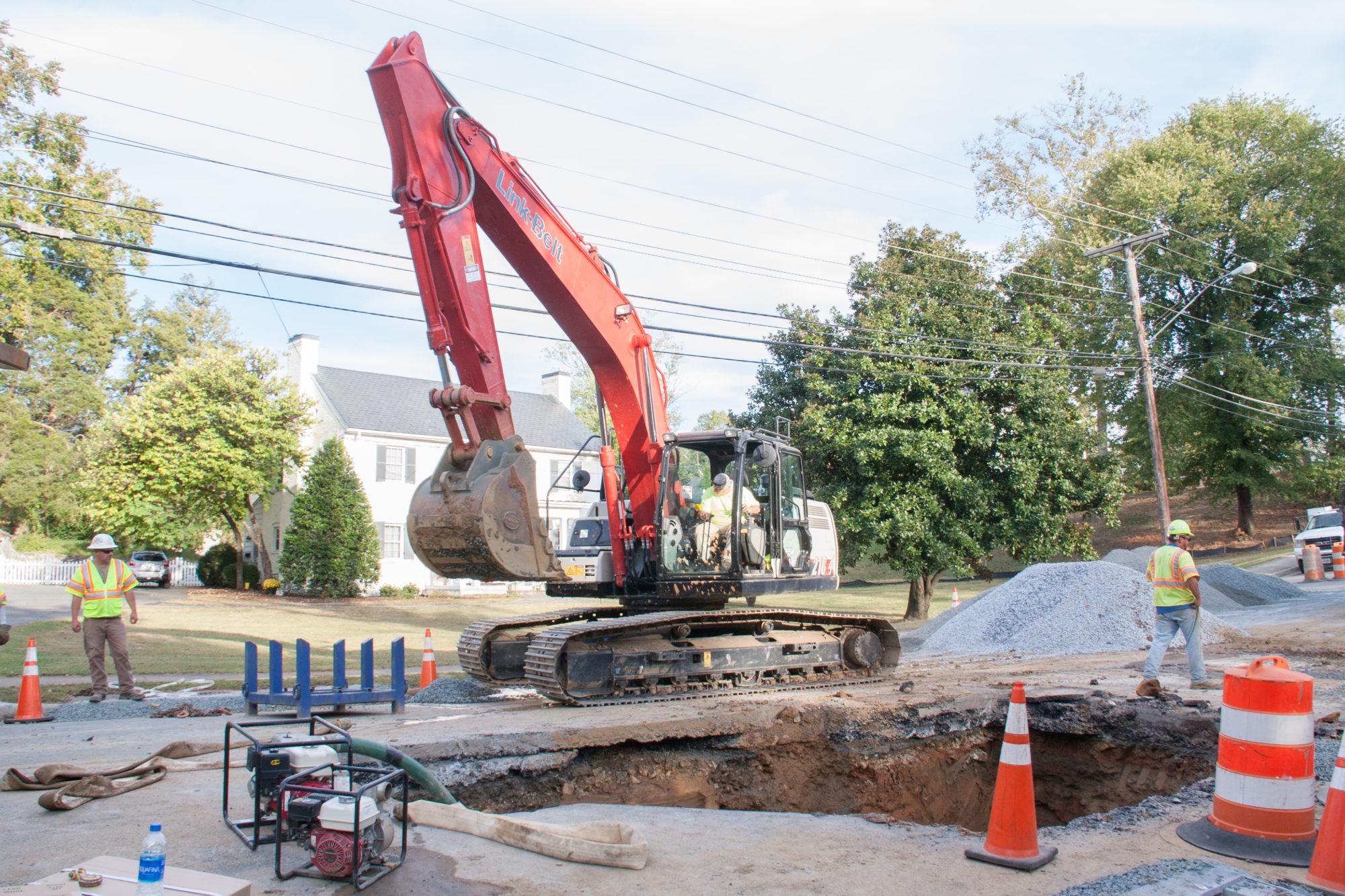 F.L. Showalter Construction site